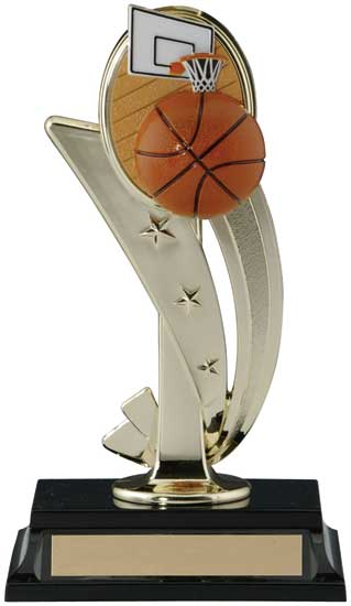 Basketball 3D Sports Riser Trophy - 8""