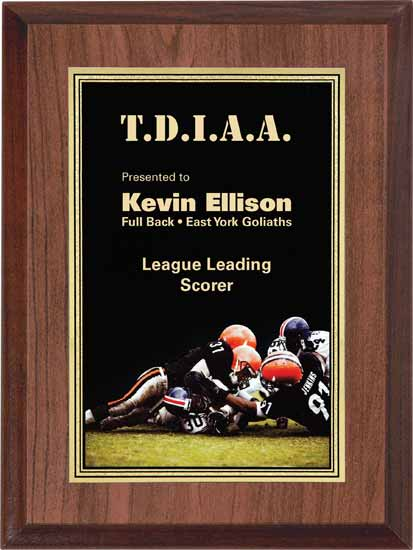 "Football Full Color Activity Plaque - 6"" x 8"""