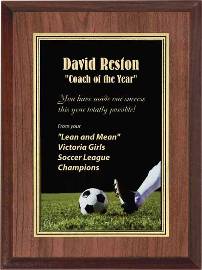 "Soccer Full Color Activity Plaque - 6"" x 8"""