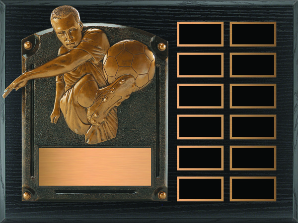 Soccer Legends of Fame Annual Plaque - Male
