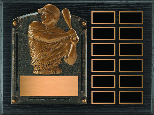 Baseball Legends of Fame Annual Plaque