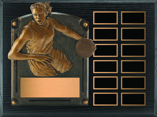 Basketball Legends of Fame Annual Plaque - Female