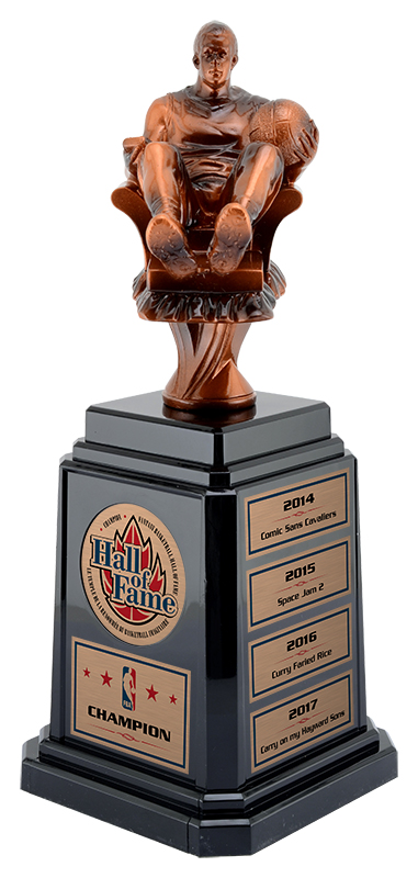 Fantasy Basketball Trophy, Tower Base - 11 1/4""