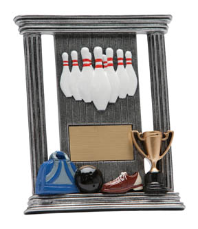 10-Pin Bowling Colosseum Easel Plaque