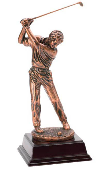 Male Golfer Deluxe Sculpture - 10""