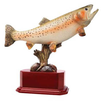 Trout Deluxe Sculpture - 6""