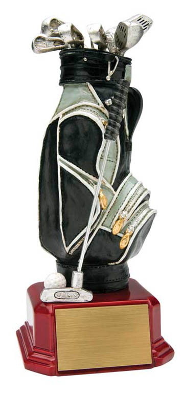 Golf Bag Deluxe Sculpture - 7 1/2""