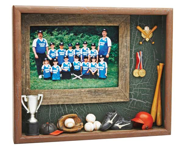 Shadow Box Photo Frame - Baseball