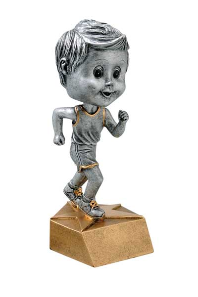 Male Track Bobble Head