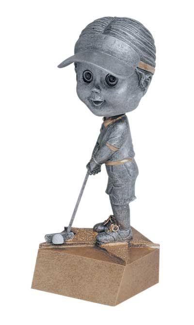 Female Golf Bobble Head