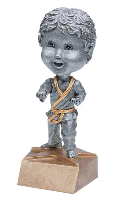 Male Karate Bobble Head