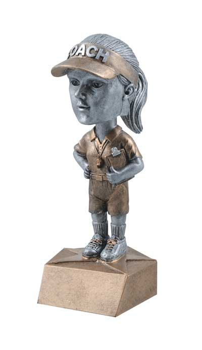 Female Coach Bobble Head