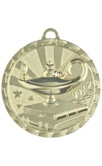 Lamp of knowledge Brite Series Medals