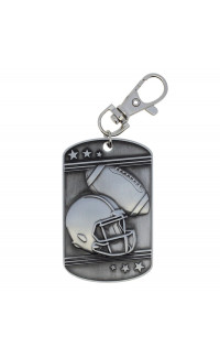 Football Dog Tag - Zipper