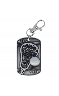 Lacrosse Dog Tag - Zipper