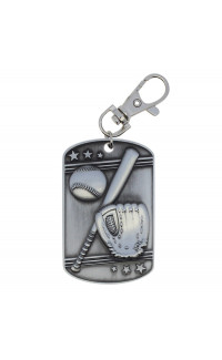 Baseball Dog Tag - Zipper