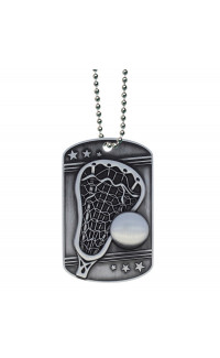 Lacrosse Dog Tag - Ball Chain