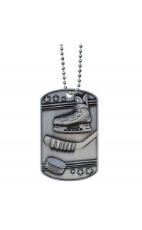 Hockey Dog Tag - Ball Chain