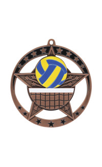 Volleyball Star Series Medal