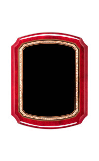 "Rosewood Piano Finish with Black Brass Plate - 10 1/2"" x 13"""