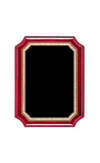 "Rosewood Piano Finish with Black Brass Plate - 7"" x 9"""