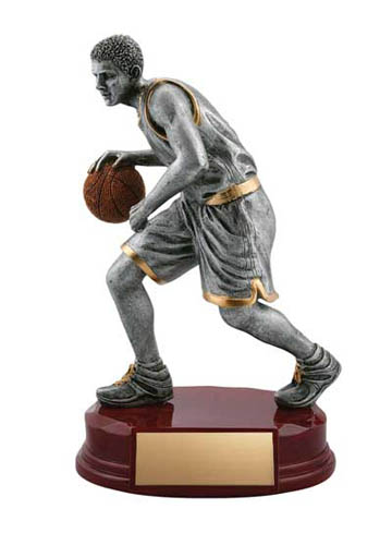 Male Basketball Deluxe Sculpture - 8""