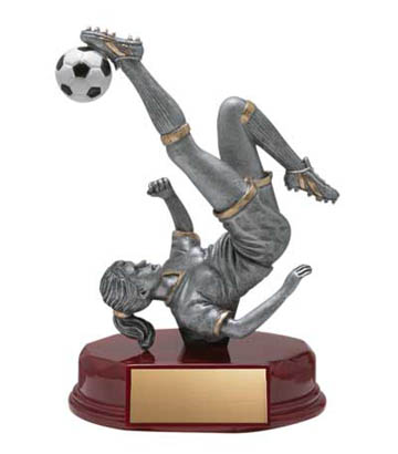 Female Soccer Deluxe Sculpture - 5 1/2""