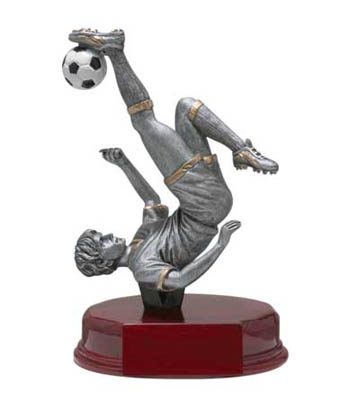 Male Soccer Deluxe Sculpture - 5 1/2""