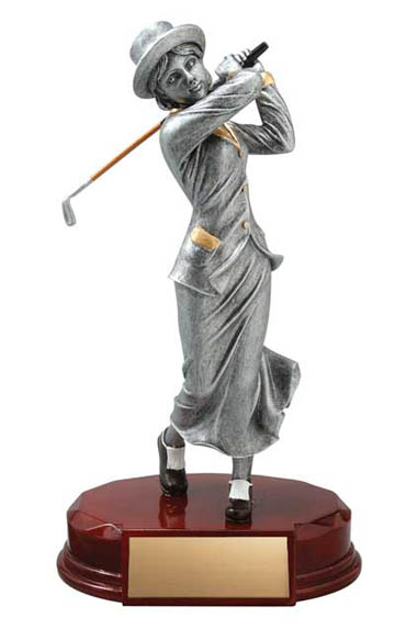 Female Golfer Deluxe Sculpture - 8""