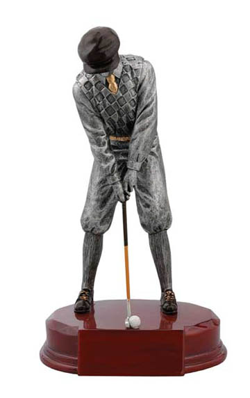 Male Golfer Deluxe Sculpture - 8""