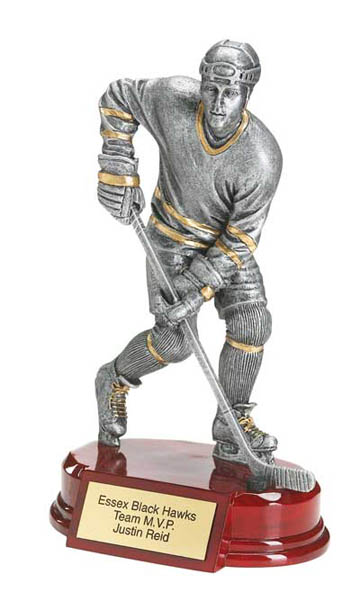 Male Hockey Deluxe Sculpture - 8""