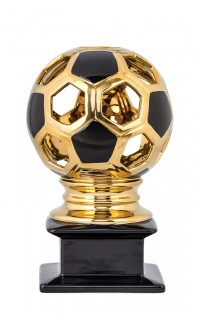 "Contempo Ceramic Soccer Award - 12"" Gold"