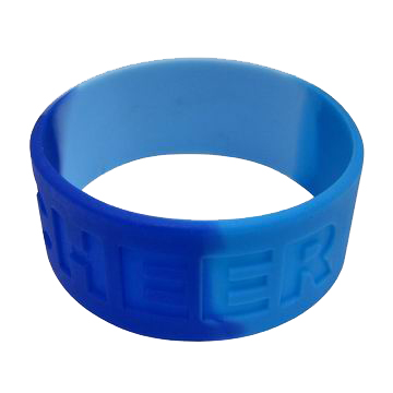 Wide Embossed Silicone Bracelets