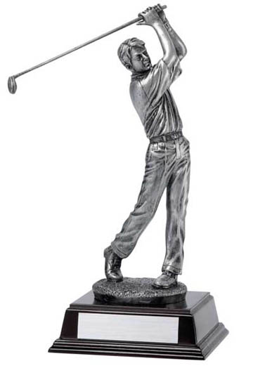 Male Golfer Deluxe Sculpture - 12 1/4""