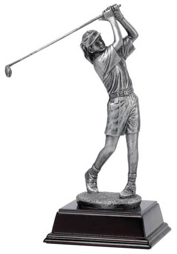 Female Golfer Deluxe Sculpture - 10""