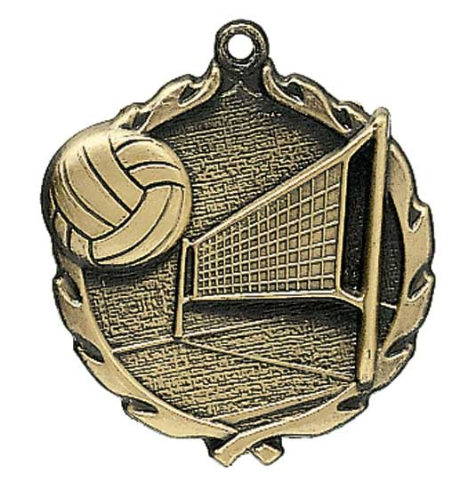 Volleyball Die Cast Medal - 1 3/4""