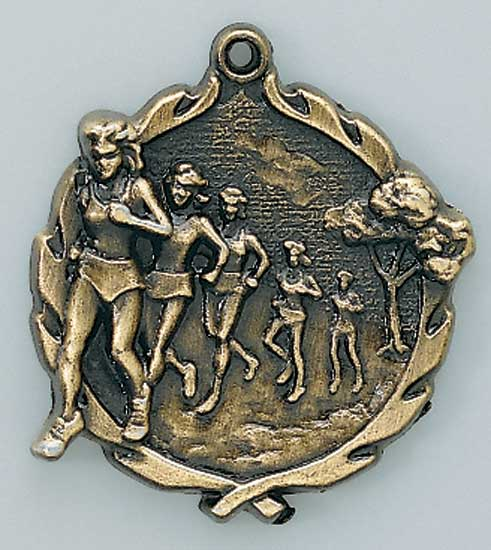 Female Cross Country Die Cast Medal - 1 3/4""
