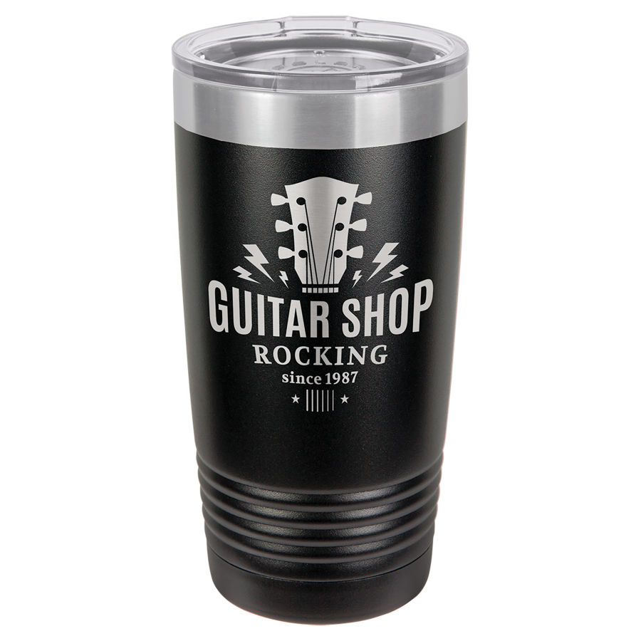 20oz Laser Engraved Tumbler - Black
