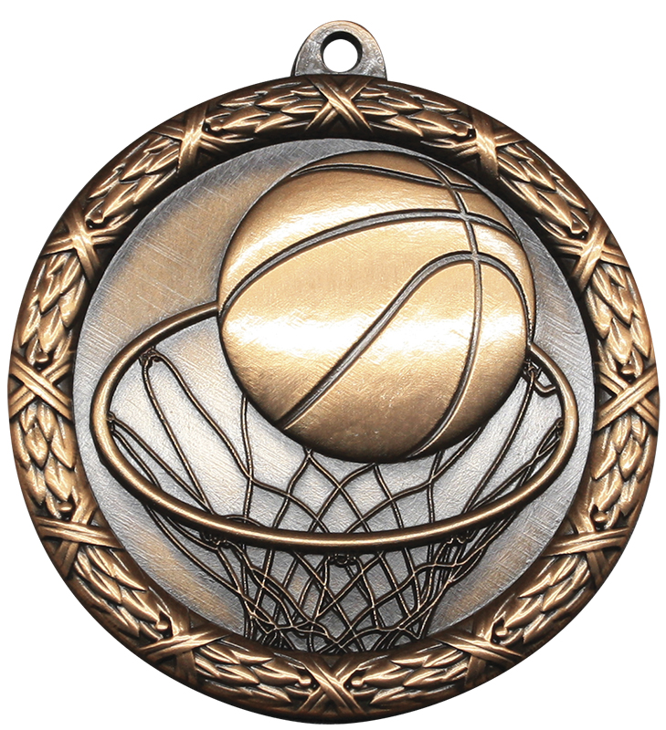 Classic Basketball Heavyweight Medal