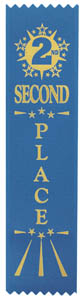 Second Place Economy Ribbon - Blue