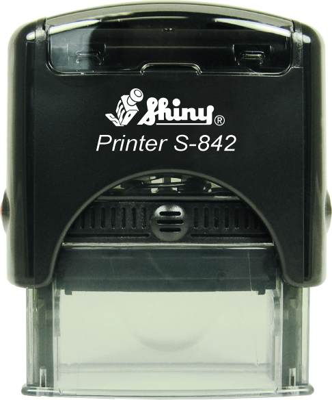 "Shiny S-842 Self Inking Stamp (1 1/2"" x 9/16"")"